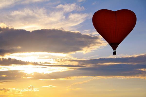 Сердце улетает в небо картинка