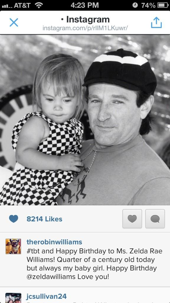 Robin Williams last tweet included this sweet message to his daughter. #RIPRobin http://t.co/GsjYIWQX3H