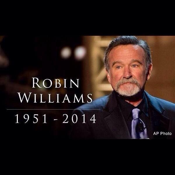 RIP Robin Williams. You made the world a happier place! You'll be missed dearly! #RobinWilliams http://t.co/NVvNlckhPs