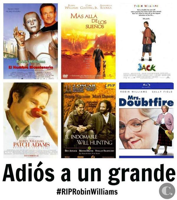 """Robin Williams  """"A veces quien más sonríe es quien más tristeza esconde."""" http://t.co/uEQfZ5dXsK"""