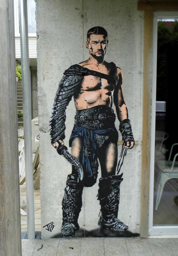 WHOAH. RT @JPSArtist1: #andywhitfield #spartacus #tribute #graffiti #streetart #jps http://t.co/3hLAHZFwLS