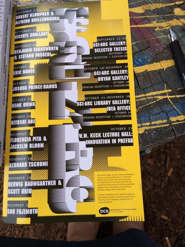 I wonder what @Culture_LA would make of @sciarcnews fall lecture series. 13 men to 2 women. @feministwall @WID_GSD http://t.co/rqMjLb3xQ9