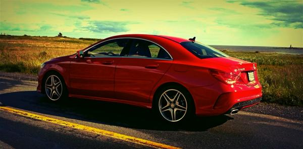 2014 Mercedes-Benz CLA250 4Matic red
