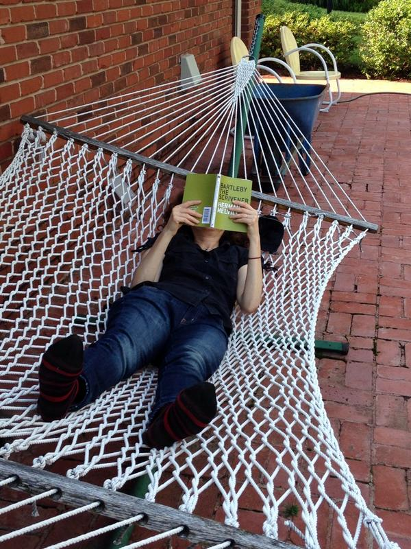 "Rockin' the hammock w/ @GallupKyle on summer vacation. ""Room for one more?"" http://t.co/vQfvy8S60n"