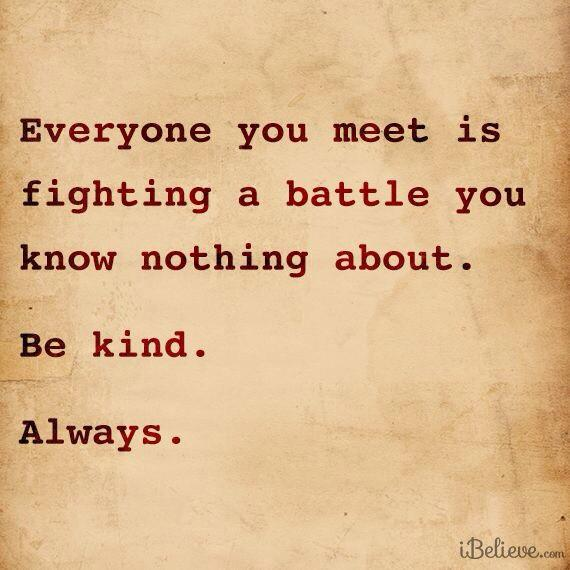 Yes, always RT @umairh: If you want to help fight depression, be kind. Always. Because you never know. That's all. http://t.co/I3n6ag5u1o