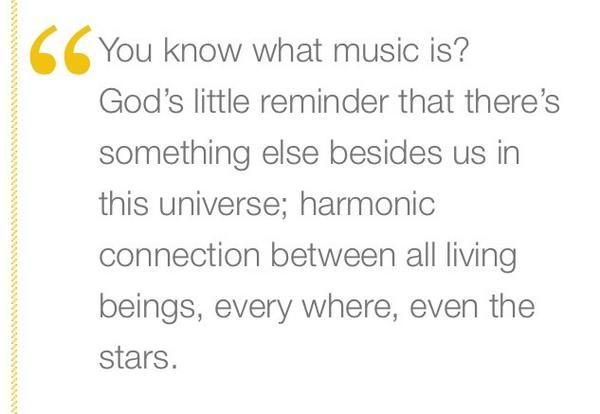 Robin Williams' take on music: http://t.co/hBRjpWsCiY