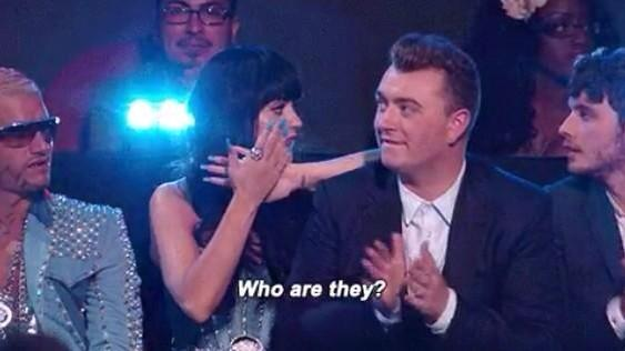 "a on Twitter: ""katy perry asking sam smith who fifth harmony were ..."