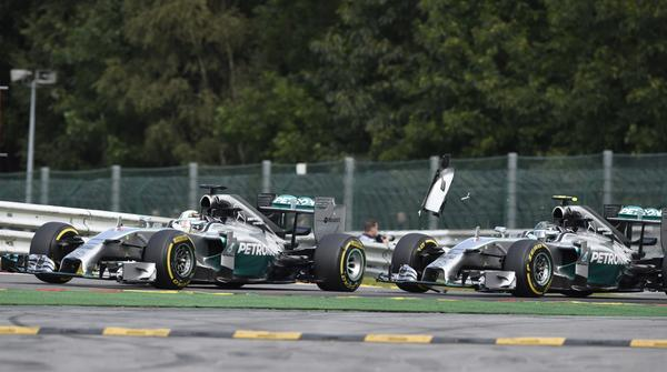 Lewis Hamilton claims Mercedes team-mate Nico Rosberg admitted hitting him on purpose http://t.co/zh3BIK93kz http://t.co/Hwc2KdT9d2
