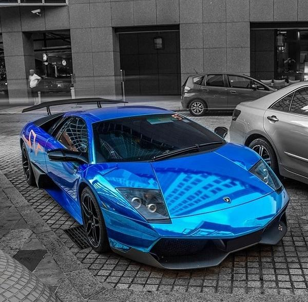 Car5s On Twitter Lamborghini Murcielago Sv Chrome Blue