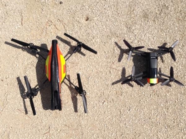 Sizes: AR.Drone 2.0 / Bebop Drone prototype http://t.co/SeAFNK3mtt