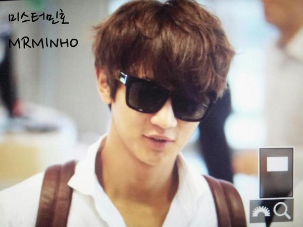 ミノ〜逢いたかったな〜 RT @thaluuu: 140825 Minho @ Gimpo Airport 3P (cr.MrMinho) http://t.co/noiLbGVyAI