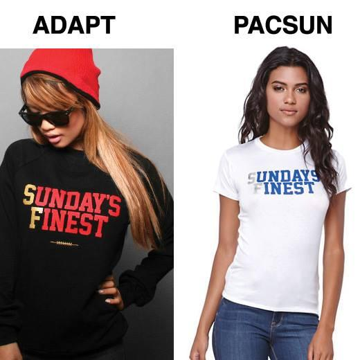 So embarrassed for @PacSun, who's selling a blatant ripoff of an @Adapt design. Original: https://t.co/gDsnpZ4oLa http://t.co/w8g1fiQniW