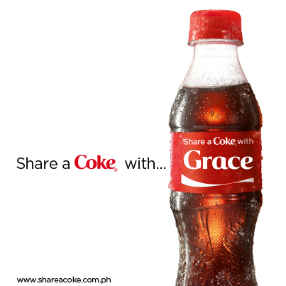 a Coke With The Name Grace on