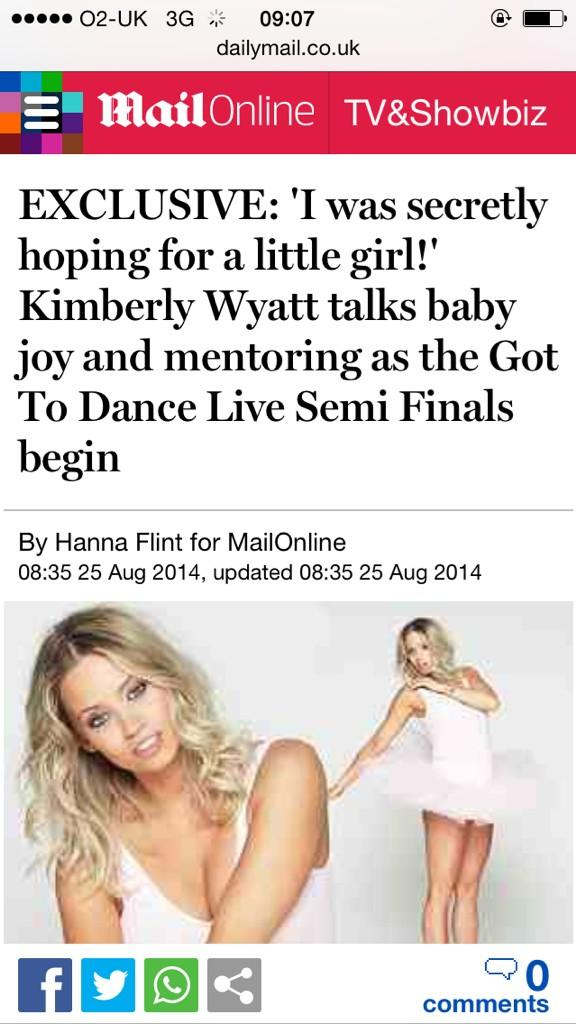 Read my story about dancing, my bump and all things Kim @MailOnline today! http://t.co/fOreb7ROLM