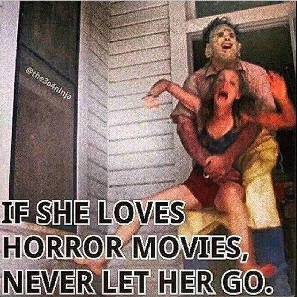Image result for girls who love horror