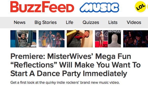 "It's here! Watch the official video to @MisterWives single ""Reflections"", via @BuzzFeedMusic! http://t.co/KvNBbCpaio http://t.co/MPFBgm2ODG"