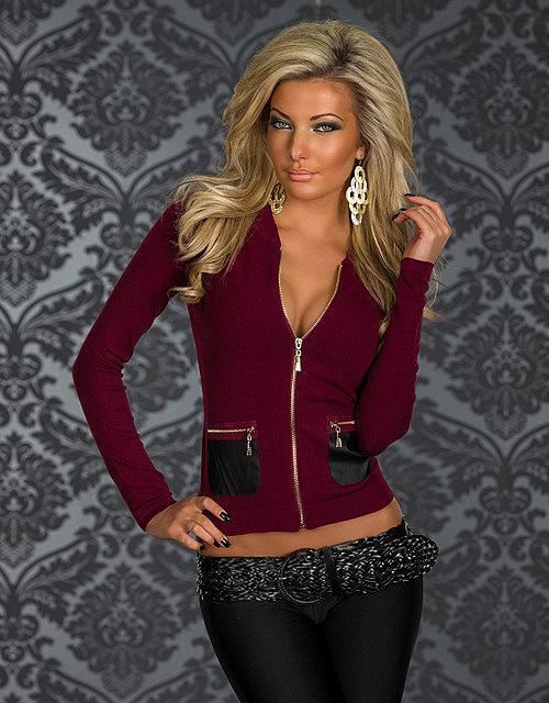 Fashion On Mujer Corta Twitter Cierre Wear Chaqueta Club rUAwEnrqF