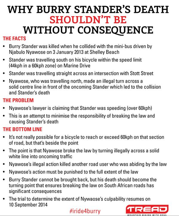 """""""@Mr_TREAD: In case you missed it: Why Burry Stander's death shouldn't be without consequence. Please RT http://t.co/Wjs3aWCHG1"""""""