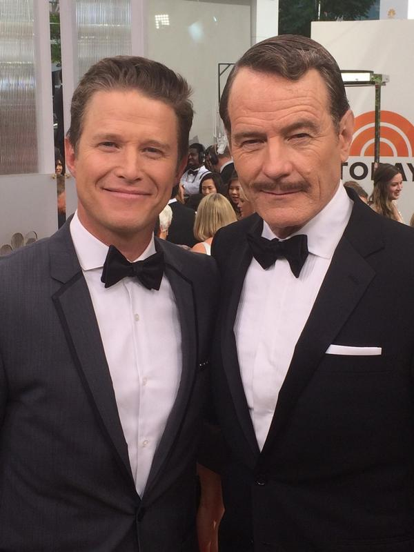 #BreakingBad's Bryan Cranston has arrived! Here he is with @billybush #Emmys2014 #Emmys cc: @BryanCranston http://t.co/h223dxvC3K