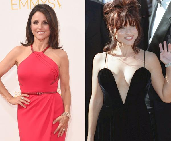 Julia Louis-Dreyfus 2014 vs. 1995  #Emmys (Photo @GettyImages/@AP) http://t.co/vYKYiJGSWo