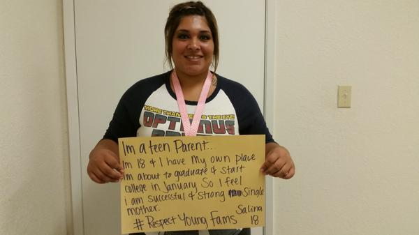 "A1 By reaching their goals! ""I'm 18 & have my own place. I'm about to graduate and start college"" #RespectYoungFams http://t.co/rfmv9QoDBs"