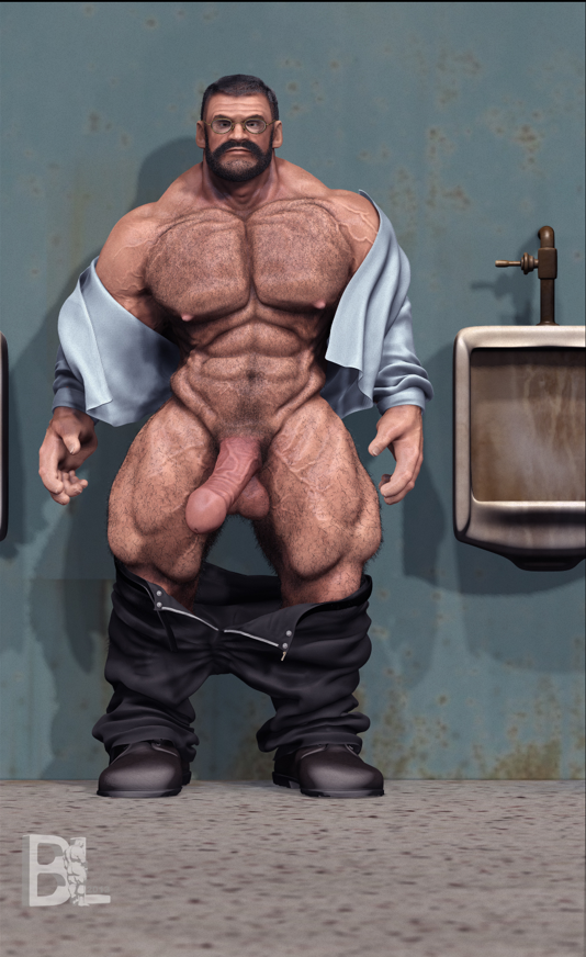 Gay bodybuilder cock
