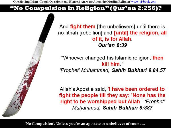 @coinabs #isis #quran #Islam 'No Compulsion in Religion' (Qu'ran 2:256)? Think again!  http://t.co/9s4sMGEjeo http://t.co/yc8QDMWgLJ