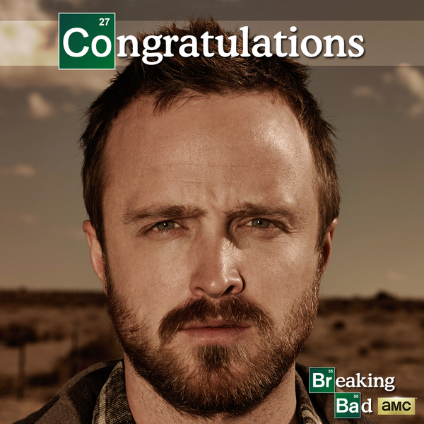 YEAH BITCH! Congratulations, @AaronPaul_8 on your #Emmys win! #BreakingBad http://t.co/RHZBjgyw8e