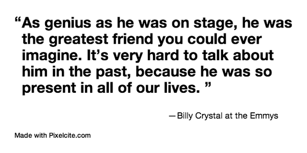 .@BillyCrystal remembers Robin Williams at the #Emmys http://t.co/0fOW43VDnw