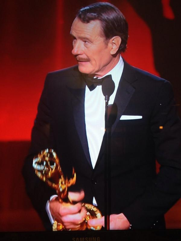 And the #Emmy for Outstanding Lead Actor, Drama goes to Bryan Cranston!#BreakingBad #Emmys #EWEmmys http://t.co/DEJyozTDG1
