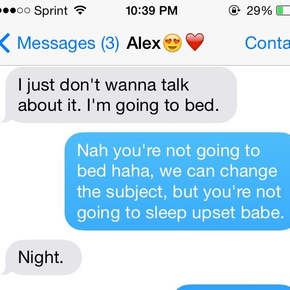 never let a girl go to bed mad