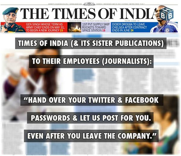 """""""@TimesOfIndia (& its sister publications) to their Employees (Journalists)..""""   More: http://t.co/4vg0FxUlEf http://t.co/GsyYVoQNTy"""
