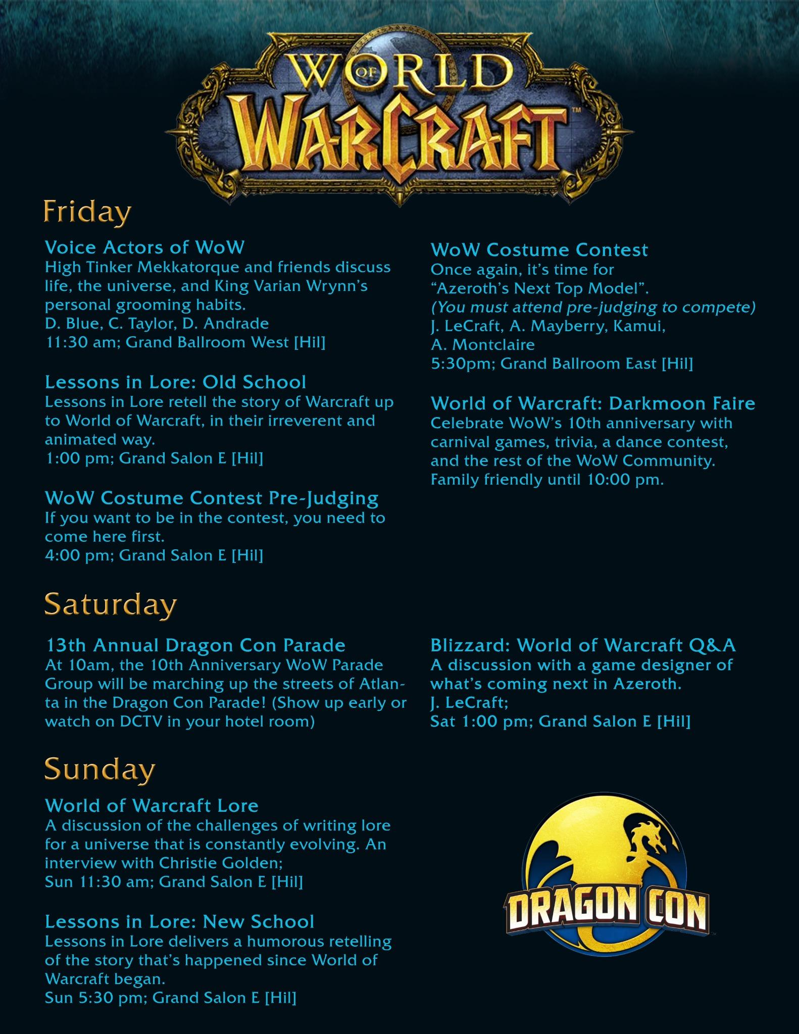 All Things WoW at DragonCon!