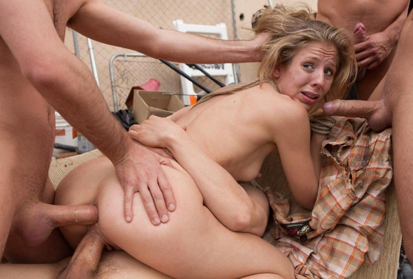 Wives bondage gangbang