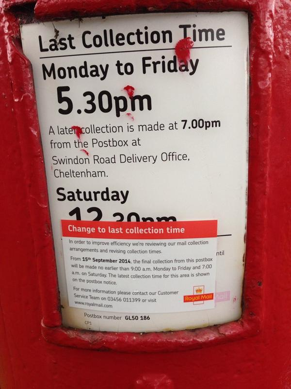 Post Office Collection Times >> Max Wilkinson On Twitter Changes To Royal Mail