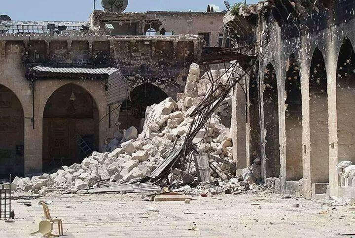 al omari mosque gaza destroyed