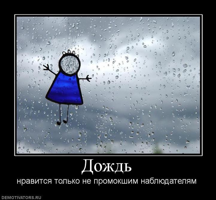 Картинки про дождь с надписью