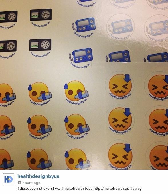 more #diabeticon stickers We #makehealth fest! http://t.co/sPOsIoPvr6 Pls follow @healthbyus http://t.co/cE9uP2Rb3c