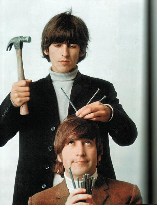"George Harrison on Twitter: ""George and #JohnLennon ""Nails"" from ..."