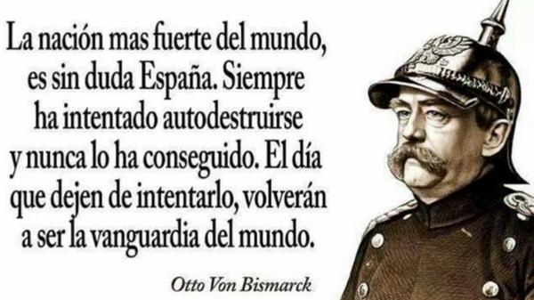 """La nación más fuerte del mundo es sin duda España. Siempre ha intentado autodestruirse y nunca lo ha conseguido"""" http://t.co/bC2xztTW9a"""