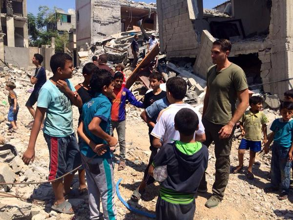 A chat with kids in #Gaza who witnessed the bombing here. http://t.co/41URw3D5zM