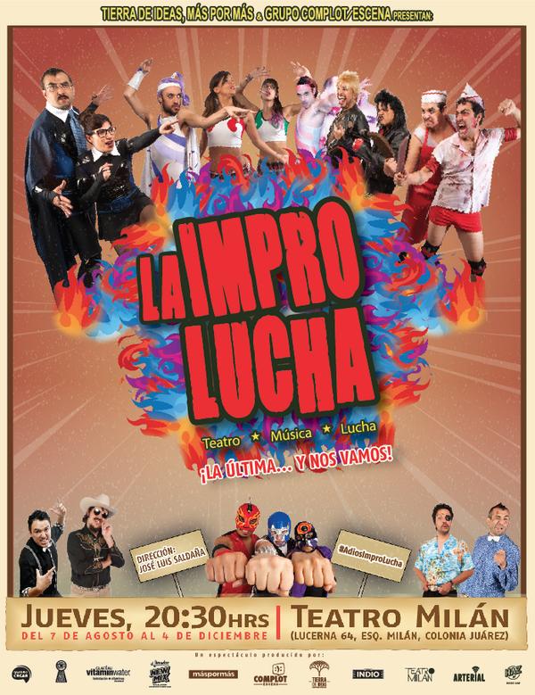 HOY es jueves de @LaImproLucha HOY es #JuevesDeImpro HOY es #JuevesDeAmigos 8:30pm @teatro_milan #LaÚltimaYNosVamos http://t.co/ybu6JOggDY