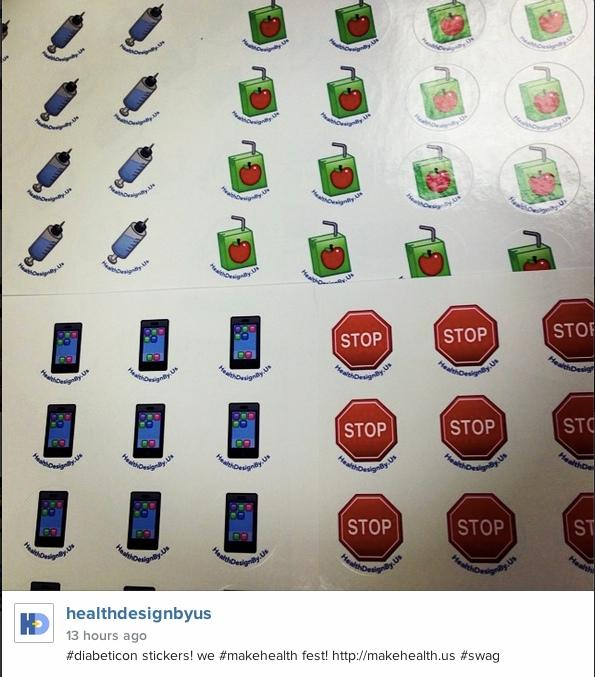 #diabeticon stickers! we #makehealth fest! http://t.co/NjPgKzap1d #swag #diabetes http://t.co/KPUvdd7vBA