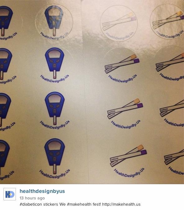 more #diabeticon stickers We #makehealth fest! http://t.co/ckflEANzrR Pls follow @healthbyus http://t.co/H2a05qTxV4