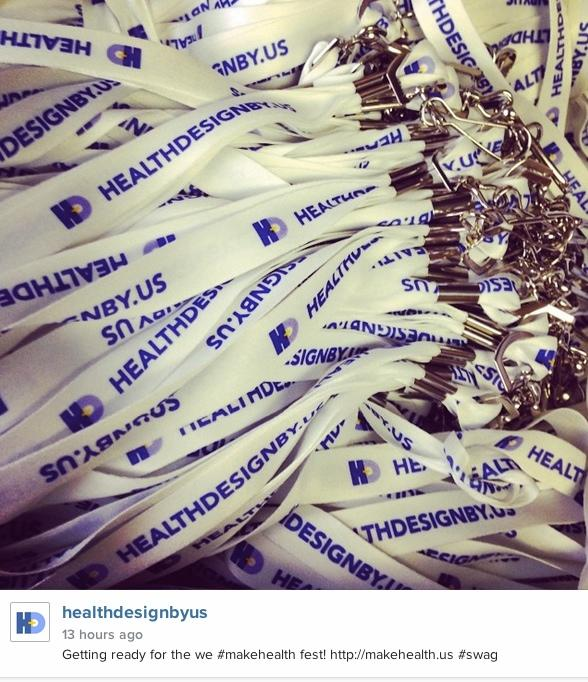Come get your #lanyard at the we #makehealth fest! http://t.co/6NFdGsfgtr #swag Pls follow @healthbyus http://t.co/PF4wSvaaRY
