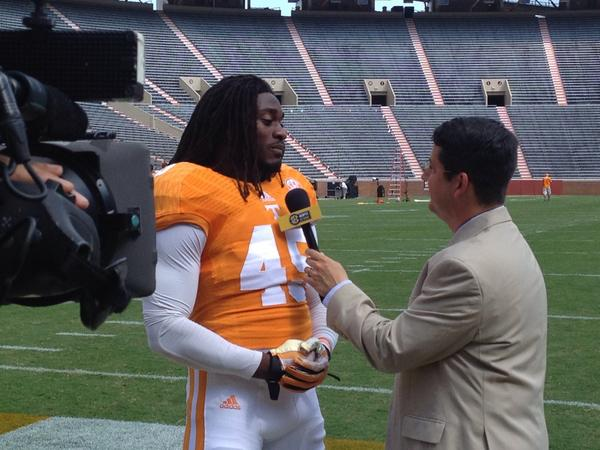 Our first @SECNetwork interview as @Aj_thebeast_45 speaks with @ESPNMcGee http://t.co/GJlLIvhViG