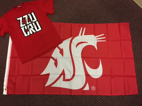 #FanFriday is back! RETWEET to get your hands on a new Cougar Flag and ZZU CRU t-shirt. Must follow to win. #GoCougs http://t.co/uKwOerOzas