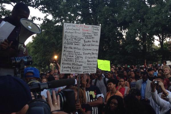 Many more being remembered here tonight in addition to Michael Brown. #NMOS14 http://t.co/bOoX5pHN92
