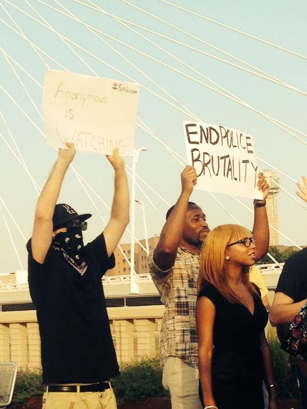 Seen at the #Ferguson rally in Dallas http://t.co/crugR0xrX1