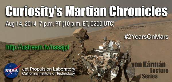 Watch @MarsCuriosity's 'Martian Chronicles' at 10pm ET tonight: http://t.co/IJZhrQAEbF Question? Use #2YearsOnMars  http://t.co/dw6CxBo7sh
